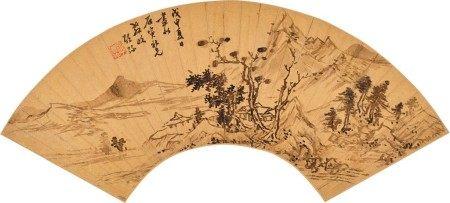 Shaomi (circa 1592 - after 1642) 邵彌 (約1592-1642後) | Studio beside a River 溪畔書屋