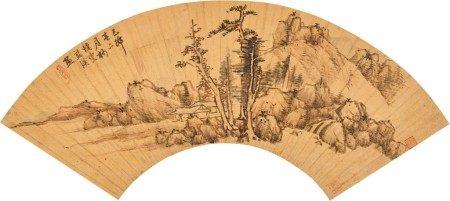 Lan Ying 1585 - 1666 藍瑛 1585-1666 | Mountain Studio 山林小屋