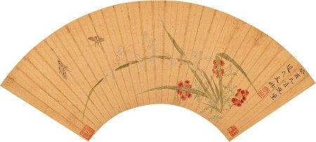 Wen Shu 1595 - 1634 文俶 1595-1634 | Orchids and Butterfly 花蝶圖