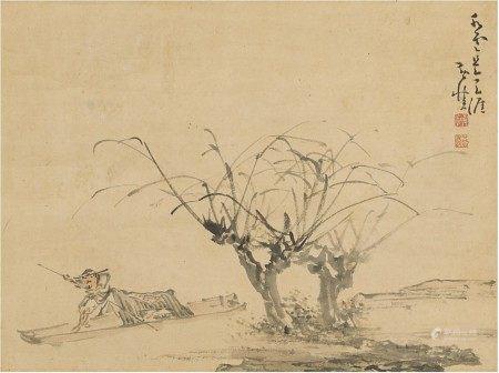 Huang Shen 1687-1768 黃慎 1687-1768 | Fisherman 水雲天涯