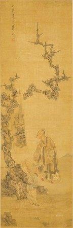 Chen Xiaolian (1634 - circa 1713) 陳小蓮 (1634-約1713) | Scholar Admiring Painting 賞畫圖