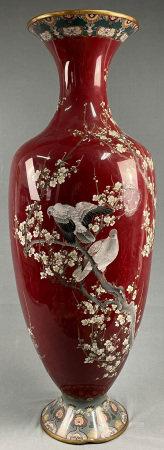 Große Cloisonné Vase. Japan.