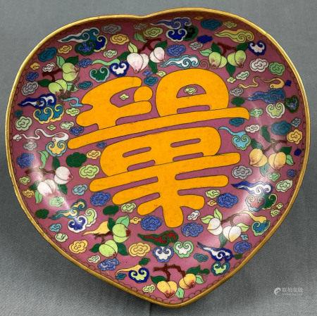Fußschale. Cloisonné. Wohl China, Japan antik.