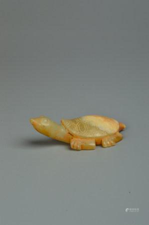A Carved Jade Turtle 玉龟