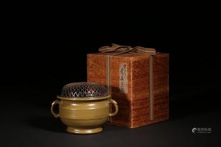茶葉末釉雙耳爐