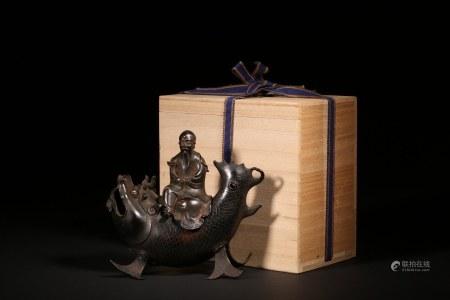 銅鯉魚仙人熏爐
