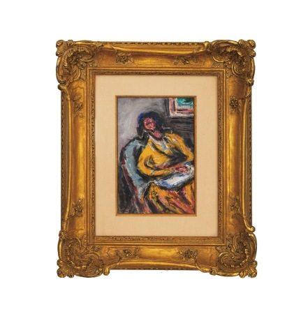 張萬傳 裸女 油畫 鏡框