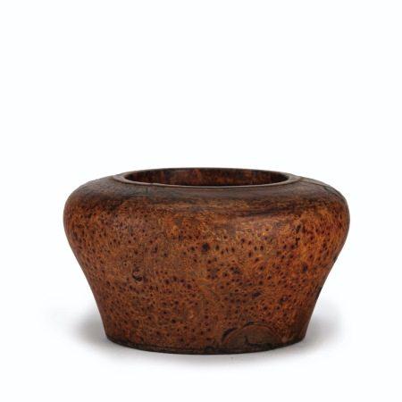 清代 癭木小罐