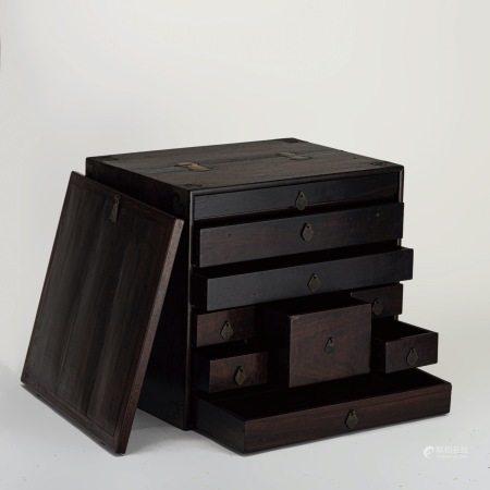 清代 紫檀 藥箱櫃