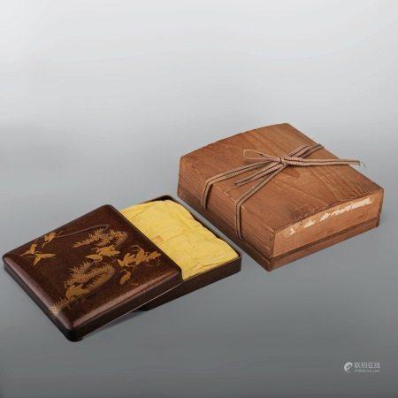 仙鶴 蒔繪 硯箱