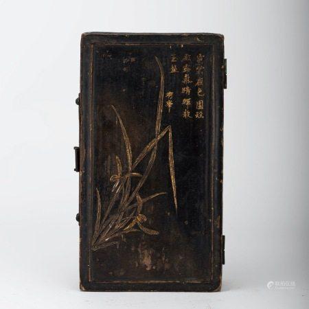 明代 竹篾黑漆盒