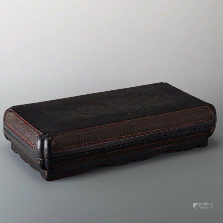 清早期 竹篾黑漆盒