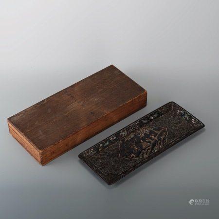 清早期 螺鈿長盤