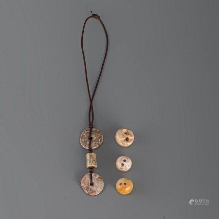 新石器時代 良渚玉件 6件