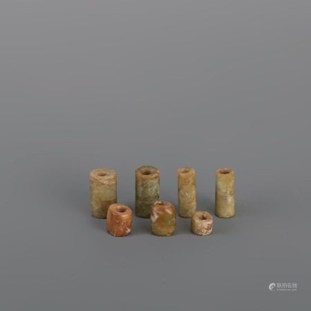 新石器時代 良渚玉件 7件