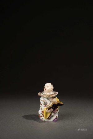 18世紀 德國麥森唱詩人物墨水瓶