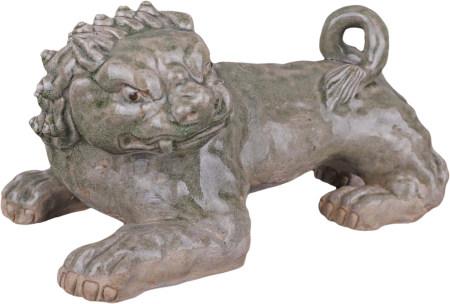 西晉 越窯青釉瑞獅擺件