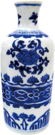 清 青花花卉瓶