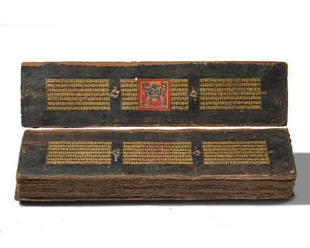 AN ILLUMINATED MANUSCRIPT OF THE ASHTASAHASRIKA PRAJNAPARAMITA SUTRA  NEPAL, DATED 1562