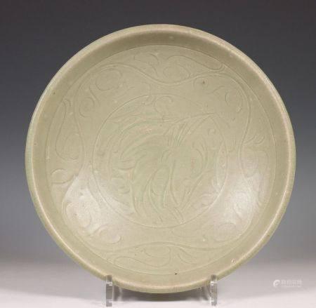 China, een celadon porseleinen schaal, Noordelijke Sung dynastie, 10e-12e eeuw,