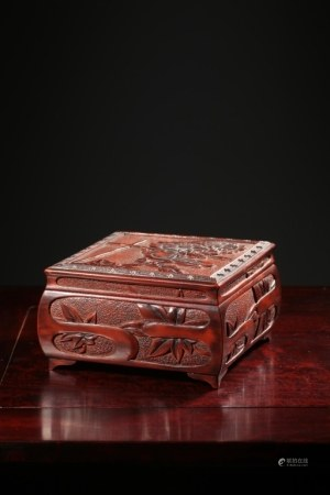 Qing Chinese Lacqure Wood Case