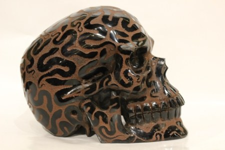 Pre-Columbia Style Skull, All Carved w