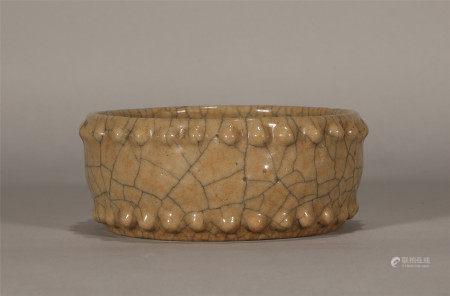 Qing style, Ge kiln porcelain brush washer