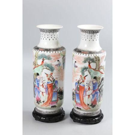 pair of Chinese porcelain vases, possibly Republican period