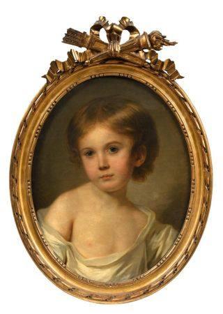 L.L. SCHILLY (actif entre 1770 et 1793) Portrait présumé de Teyssier des Farges enfant Toile ov