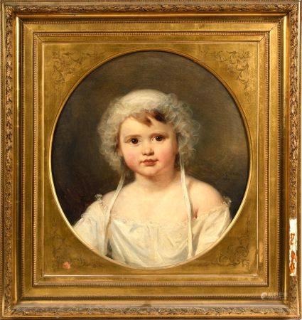 Nicolas GOSSE (Paris 1787 - Soncourt-Sur-Marne 1878) Portrait d'Aglae Françoise Lebe Gigun (née