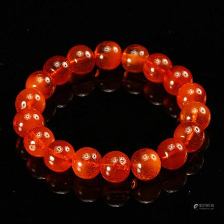 Chinese Amber Beads Bracelet