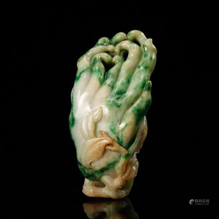 Chinese Jadeite Carved Finger Citron