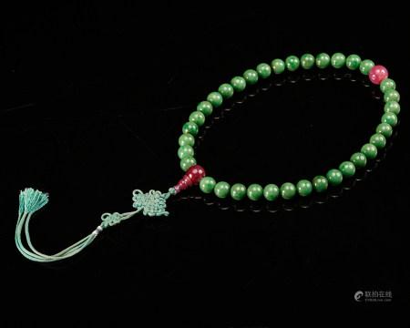 Chinese Jadeite Prayer Beads