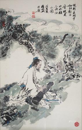 薛林興  古人彈古琴