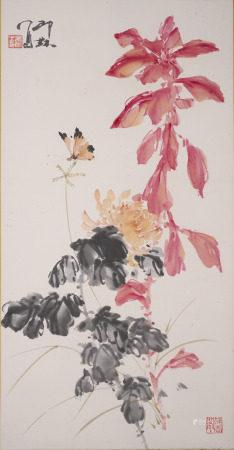 印缽  蝶花図