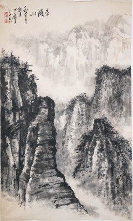 羅銘  帝陵山図