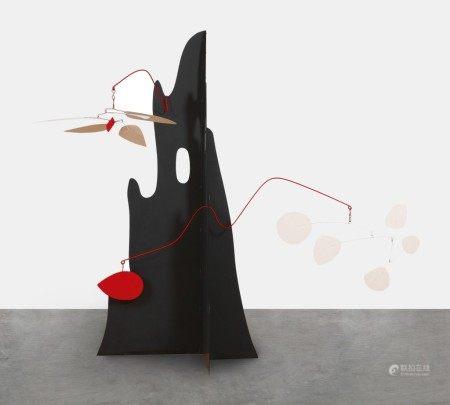 Alexander Calder 亞歷山大·考爾德 | Crag with White Flower and White Discs  峭壁上的白花與白金屬片