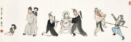 Guan Liang 關良   Opera Figures 戲劇人物