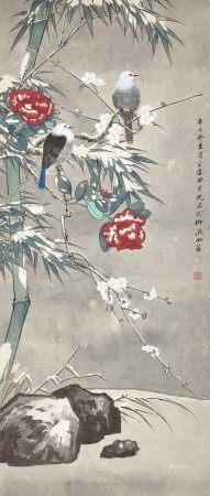 Tian Shiguang 田世光   Winter Birds 雪竹寒禽