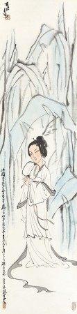 Li Keran 李可染   Lady with a Fan 蕉蔭逭暑
