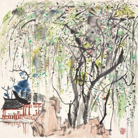 Wu Guanzhong 吳冠中   A Garden in Suzhou 蘇州園林