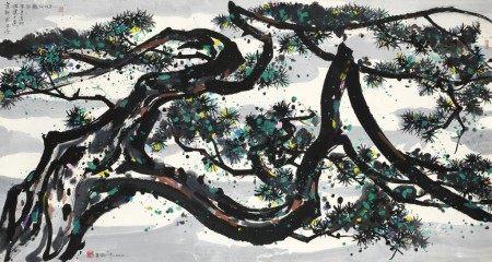 Wu Guanzhong 吳冠中   The Dragon Pine  卧龍松