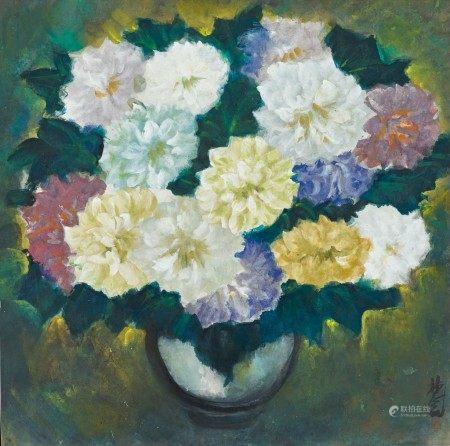 Lin Fengmian  林風眠   Vase of Flowers 瓶花