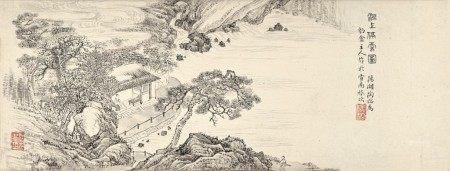Tao Rong 陶瑢   Landscape of Huanshang River 洹上停雲圖