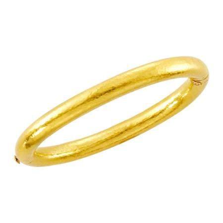 Zolotas High Karat Hammered Gold Bangle Bracelet