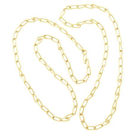 Bulgari Two Gold Chain Necklaces