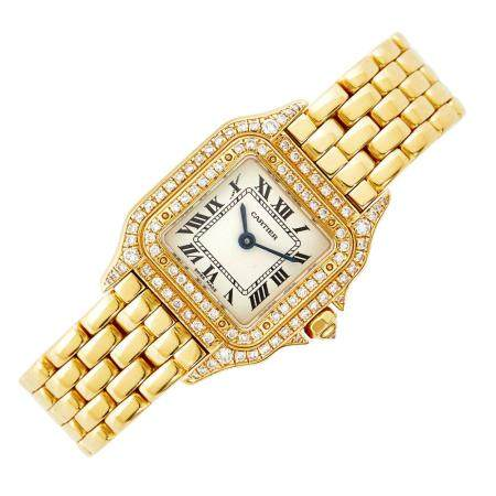 Cartier Gold and Diamond 'Panthère' Wristwatch, Ref. 31711