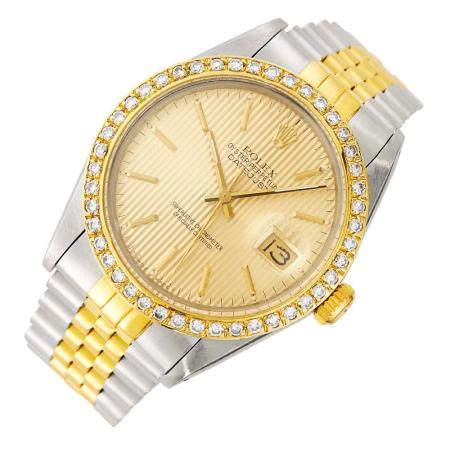 Rolex Gentleman's Gold and Stainless Steel 'Oyster Perpetual Datejust' Wristwatch, Ref. 160133