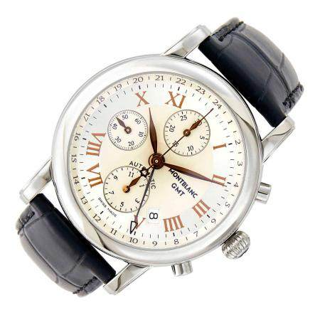 Montblanc Stainless Steel 'Meisterstuck' Chronograph Wristwatch