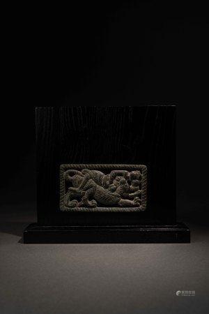 戰國 鄂爾多斯青銅狩獵紋牌飾